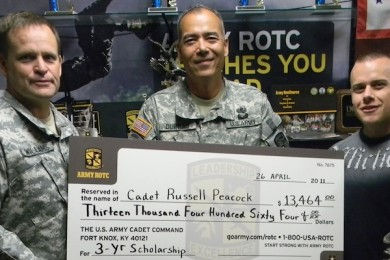 Dixie State College ROTC Awards Cadet Scholarship to