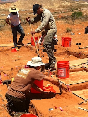 archaeological excavation for southern utah parkway