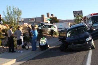 One transported to hospital in Washington City car accident