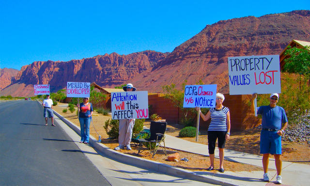 Residents Protest Low Income Housing Imposed On The Quail