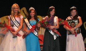 Miss St. George Royalty 2011 from L-R: Jocelyn Jones, 2nd Attendant; Callen Crenshaw, Princess; Baylee Hogan, 1st Attendant; Emily Wilson, Miss Spirit; St. George, Utah | Photo courtesy of Miss St. George Pageant