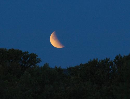 a Partial Lunar Eclipse on