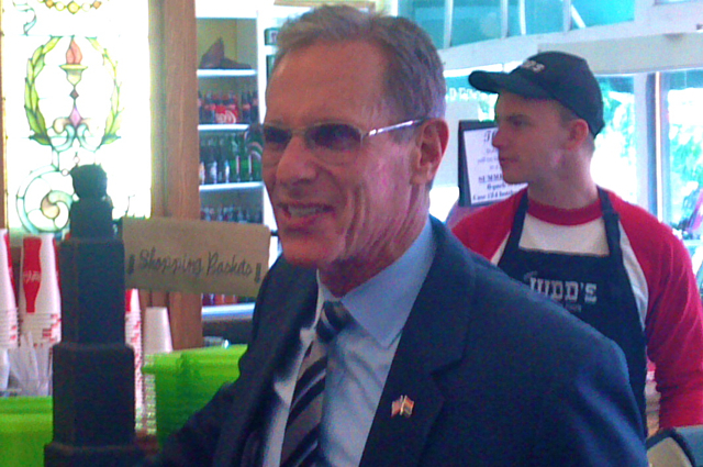 Presidential candidate Fred Karger visits Judd's Mercantile in St. George, Utah, June 7, 2012 | Photo by Joyce Kuzmanic, St. George News