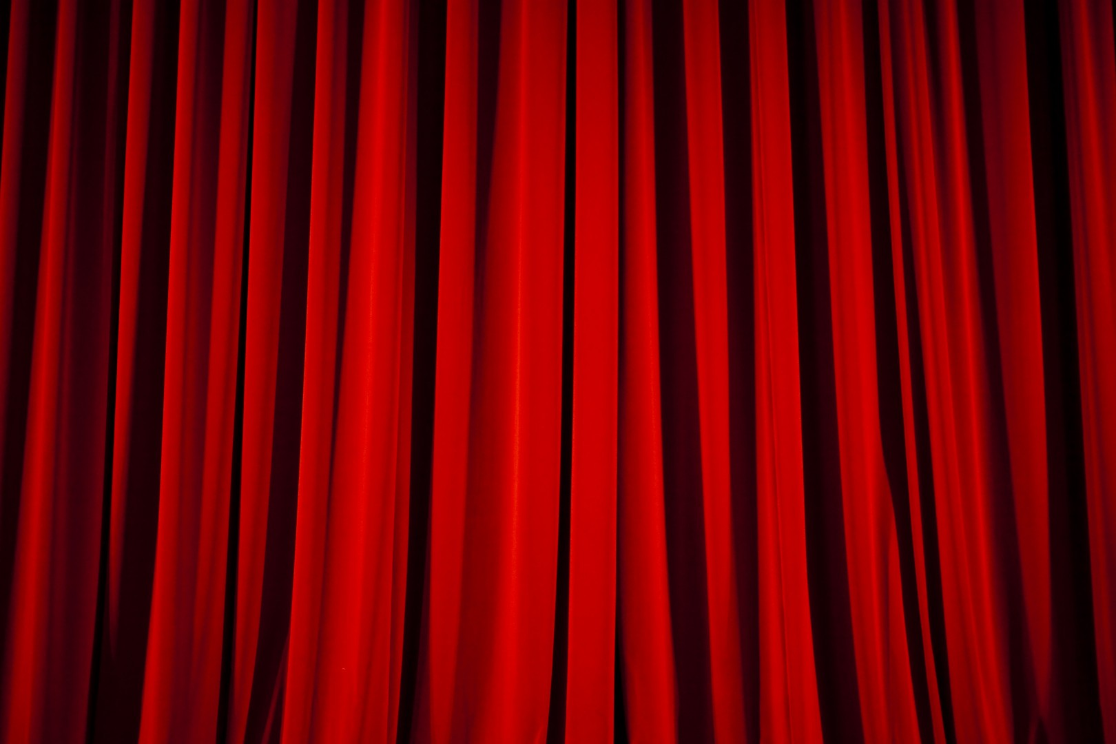 Red Curtain Spotlight Background