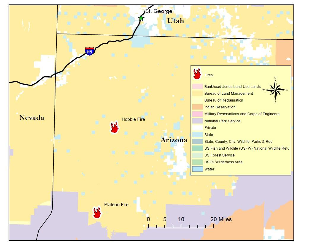 Map Of Arizona Strip.Rainfall Helps Diminish Most Fires On Arizona Strip One Grows Due