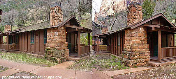 Historic cabins being restored at zion national park st for Cabin zion national park