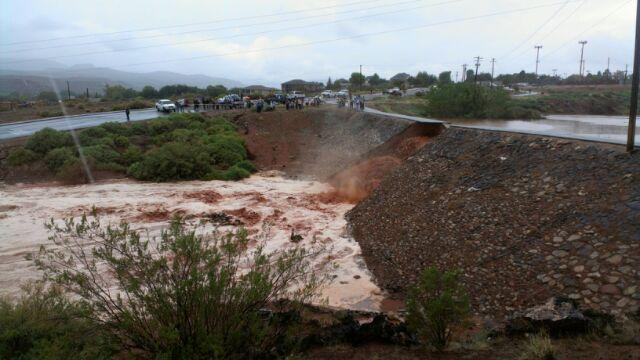 Dike break in Santa Clara, Sept. 11, 2012 | Dave Amodt, St. George News