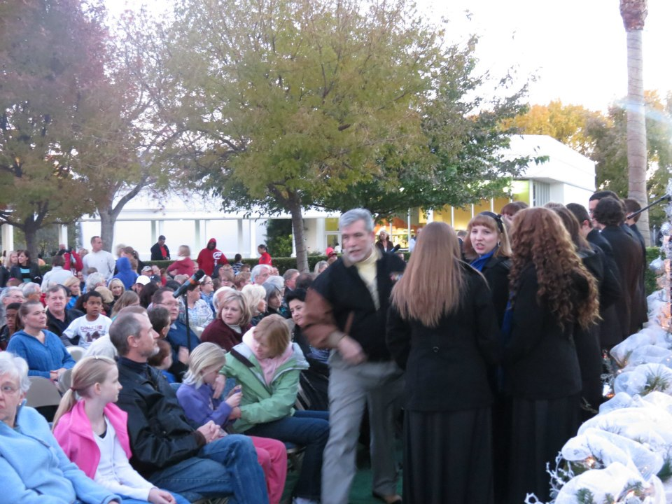 2012 Lighting of the LDS Temple annual Christmas ceremony, St. George, Utah