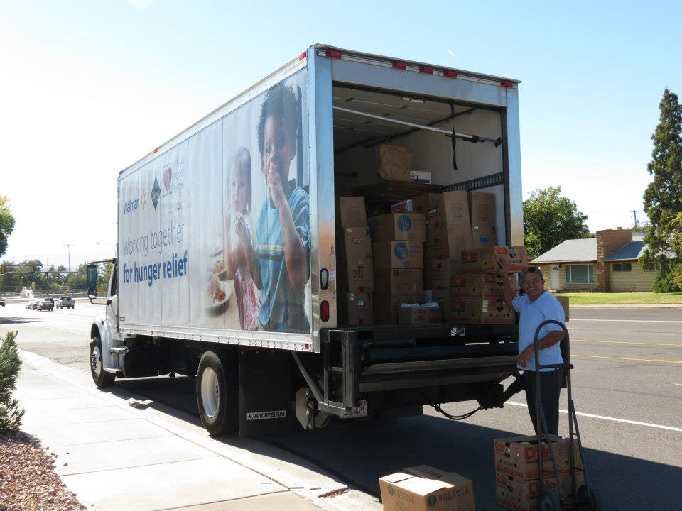 Utah Food Bank delivers food for Friday food boxes for the needy and Sunday Feast at Solomon's Foursquare Church in St. George