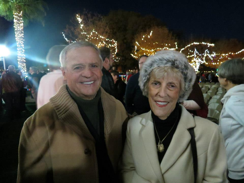 Nate and Rita Sylvestri 2012 Lighting of the LDS Temple annual Christmas ceremony, St. George, Utah
