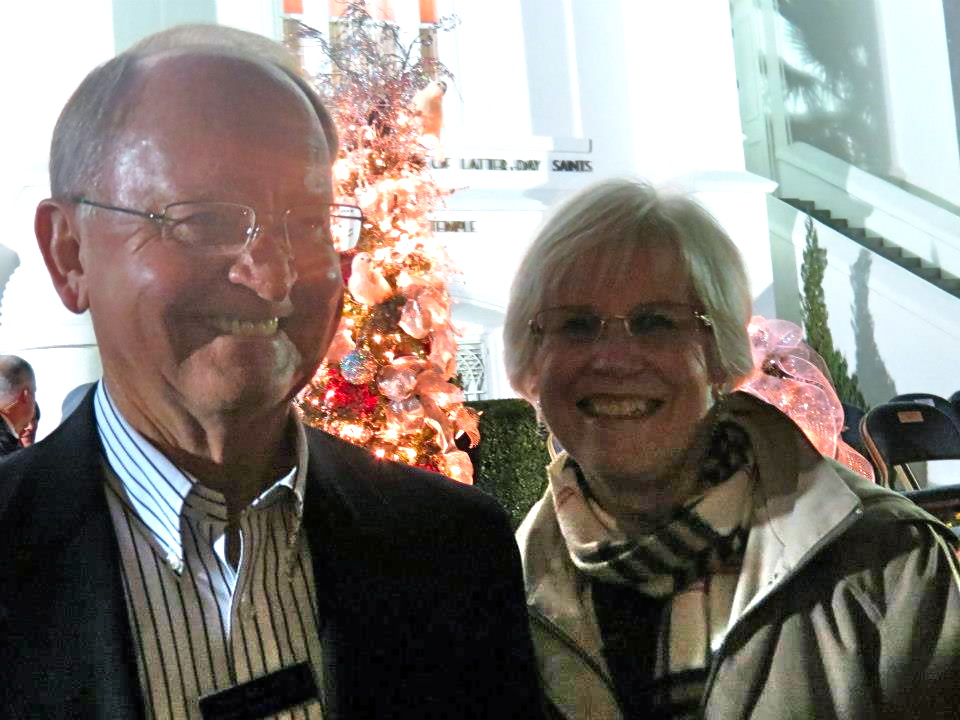 Tim Martin (L) at the Lighting of the St. George Temple of the Church of Jesus Christ of Latter-day Saints