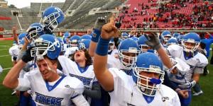 Dixie celebrates the school's seventh state football championship, Salt Lake City, Utah, Nov. 16, 2012 | Photo by Robert Hoppie, St. George News