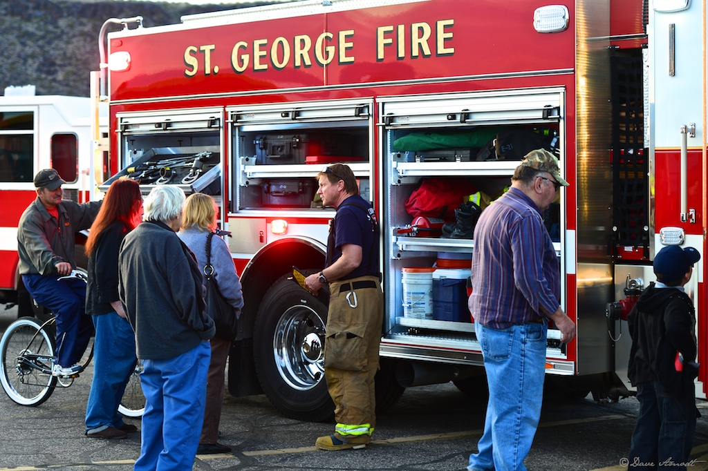 photo gallery st george fire police departments host jaws of life demonstration at old. Black Bedroom Furniture Sets. Home Design Ideas