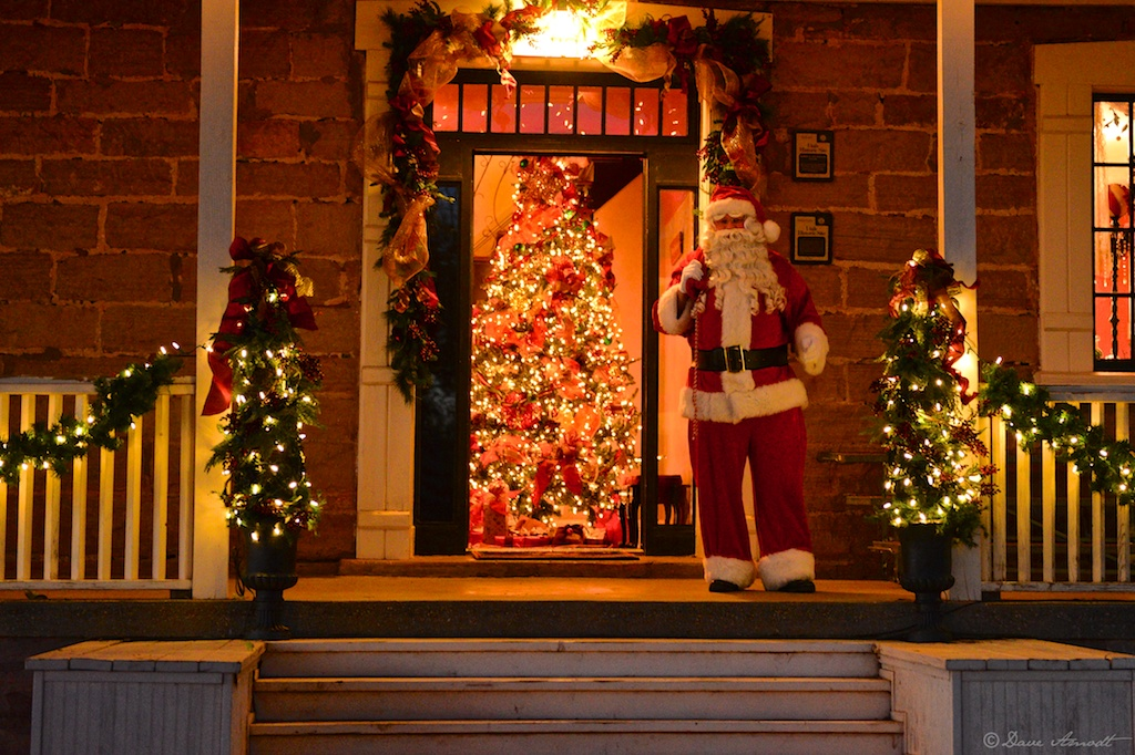 The historic Covington Mansion at the Christmas in Dixie event,