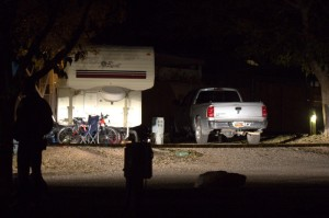 The scene of the shooting incident, Harrisburg, Utah, Nov. 17, 2012 | Photo by Chris Caldwell, St. George News.