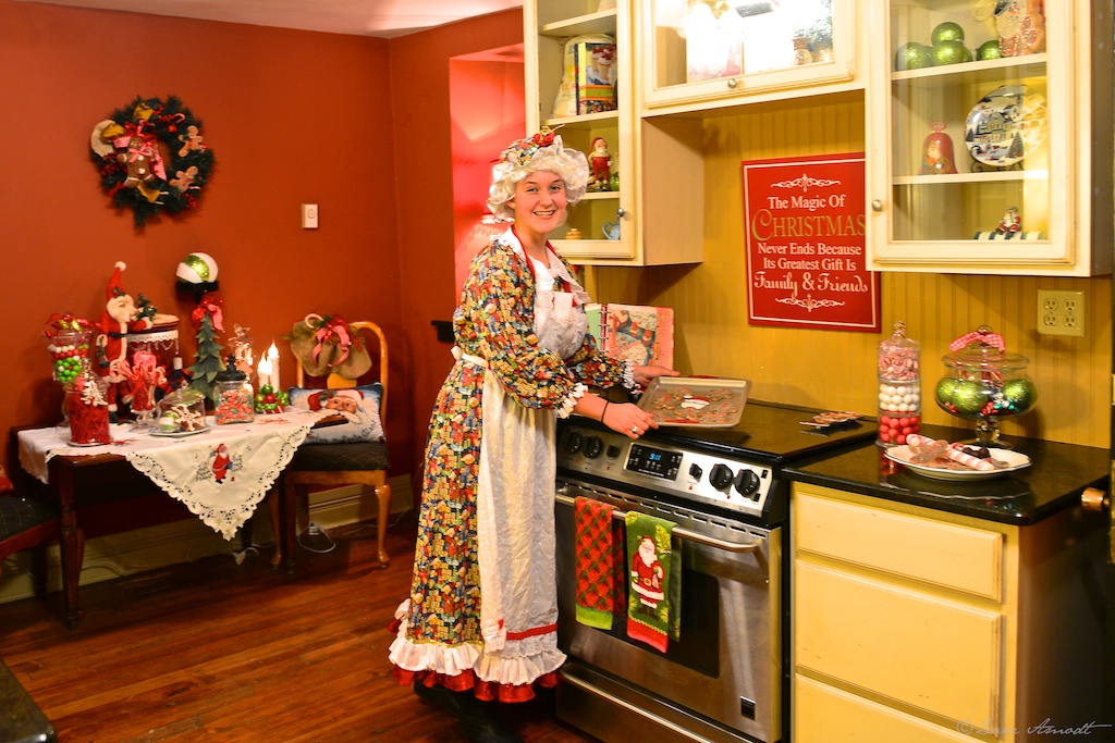 Natalee Scoresby as Mrs. Claus at Washington City's recently acquired and restored Covington Mansion.