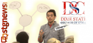 Dixie State College of Utah Student Body President Brody Mikesell