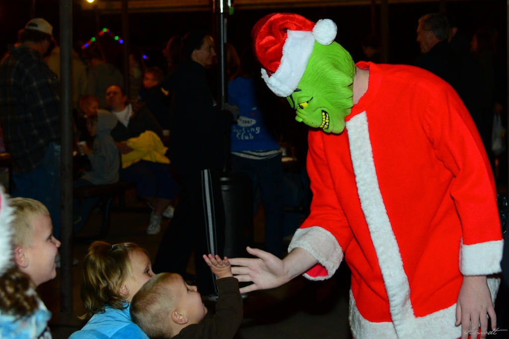 High fives from the Grinch at Christmas in Dixie Washington City