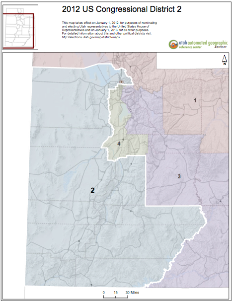 Us Congressional Districts Utah Eff 2012 For Election 2013 For Service Map Courtesy Of