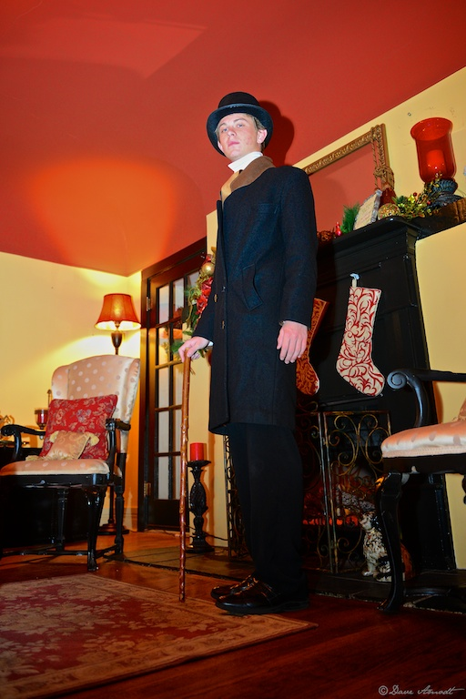Zachary Lusk as Mr. Covington, at Washington City's recently acquired and restored Covington Mansion