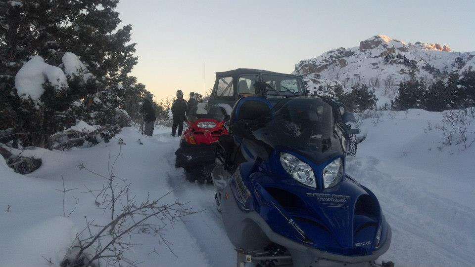 Washington County Sheriff's Search-Rescue with Jared Curtis, Jason Curtis, in SAR mission to locate vehicle plus persons stranded doing snowstorm in Enterprise UT Dec 19 2012