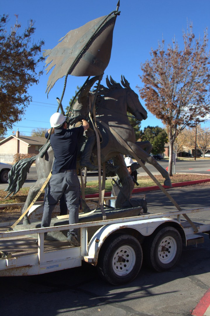 Confederate themed statue removed from Dixie State College