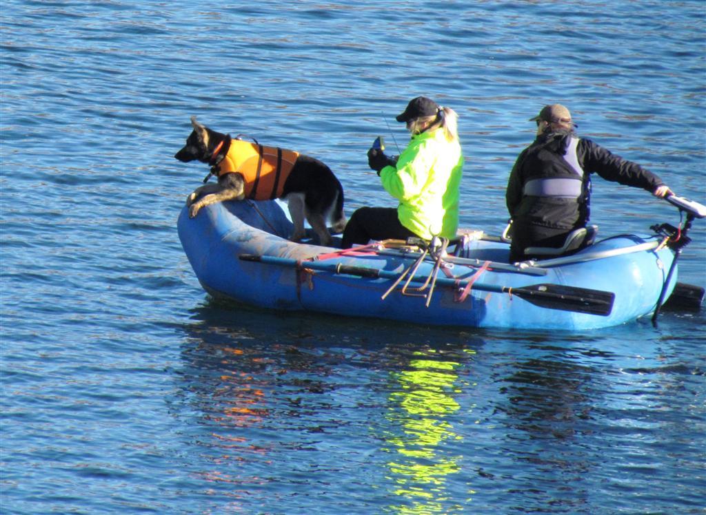 K-9 Sayla and Colorado's La Plata Search and Rescue team members