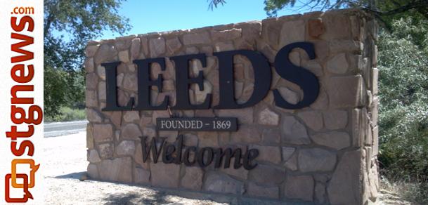 Leeds Utah Welcome monument St. George News photo by Joyce Kuzmanic
