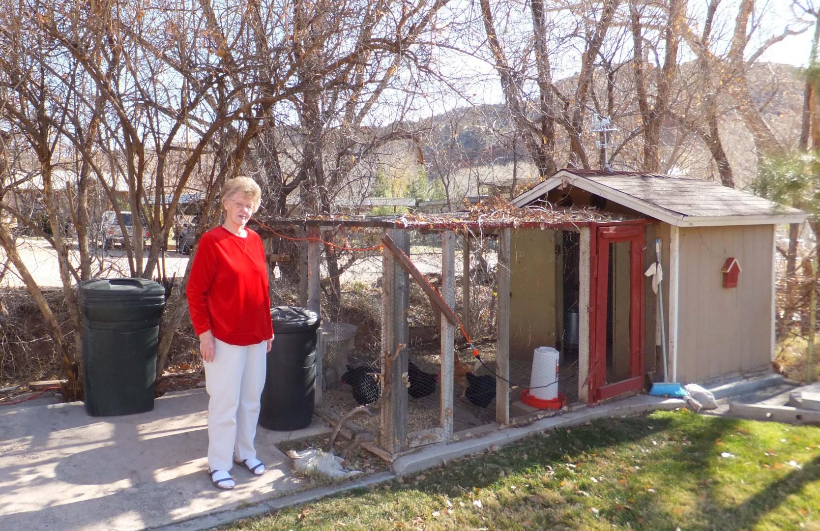 Utahna Jennings' backyard chicken coop