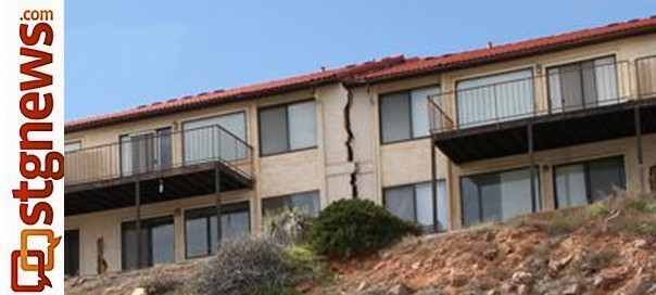 house split in half possible solution underway for black hills creeping landslide