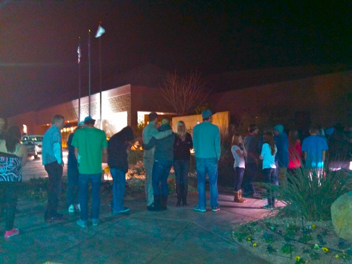 Entrance line at 8:14 p.m. for 'The Big Event' at the Washington Community Center