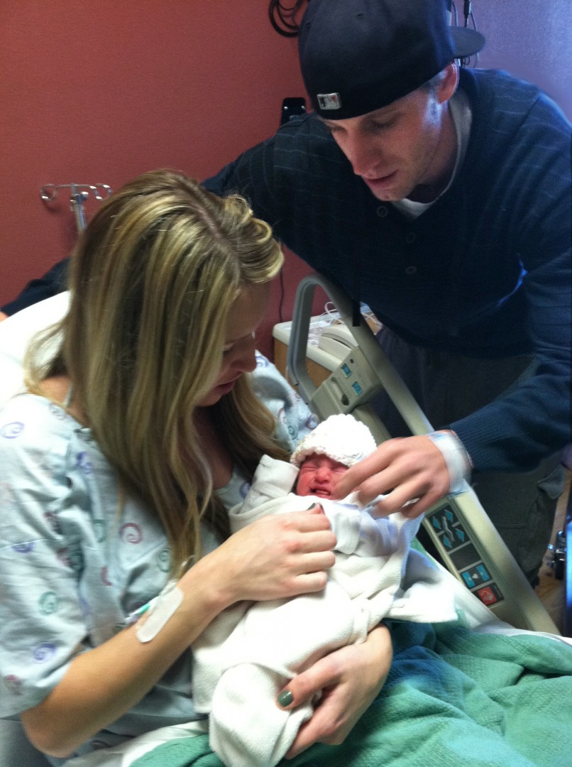 Baby New Year 2013 Sophia Smith, born to Tanya and Kacen Smith, Dixie Regional Medical Center