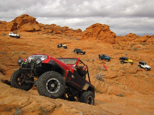 Winter on the Rocks trail, Hurricane Utah OHV and Jeeping, Eric Beard photographer