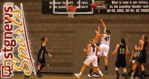 Snow Canyon at Desert Hills girls basketball, St. George, Utah, Jan. 31, 2013 | Photo by Robert Hoppie, St. George News