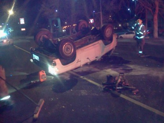 Two car accident on bluff street leaves ford bronco for Zion motors st george