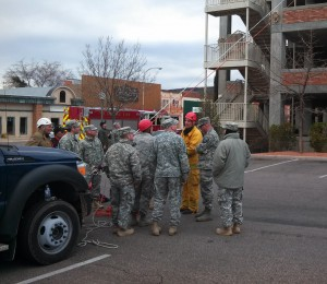 Members of the National Guard's 85th Civil Support Team and the St. George Fire Department engaged in WMD response and rescue training in St. George from Feb. 20 to 24, St. George, Utah, Feb. 21, 2013   Mori Kessler, St. George News