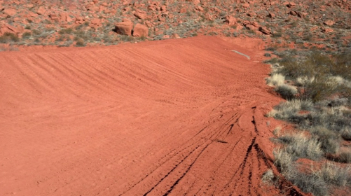Tuacahn Wash Basin Detention Dam completed, Ivins, Utah, Feb. 2013 | Photo courtesy of Ivins City, St. George News