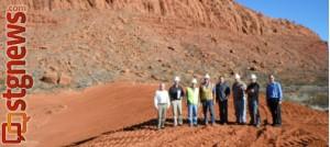 Tuacahn Wash Basin Detention Dam completed, Ivins, Utah, Feb. 2013 | Photo courtesy of Ivins City, St. George News