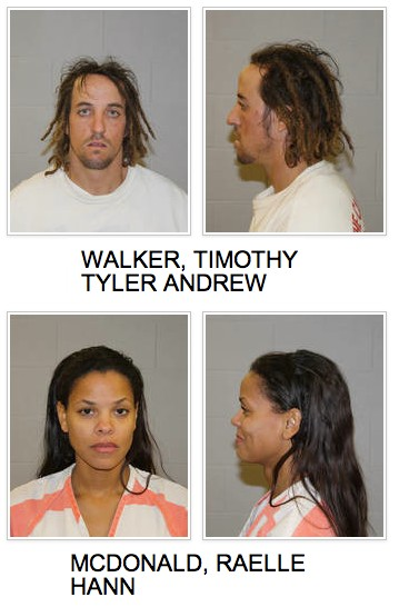Booking photos courtesy of the Utah Highway Patrol