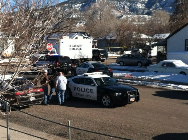 Police arrested a person of interest after a standoff Friday afternoon, Cedar City, Utah, Feb. 15, 2013 | Photo by Jennifer Reid, St. George News
