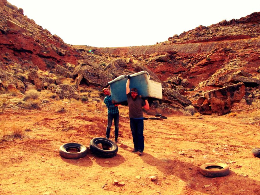 Clean-up of Garth bouldering area, Washington, Utah