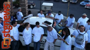 Last years qualifiers keeping their hands on a 2001 Chevy Impala.