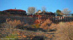 Houses in Santa Clara Heights threatened by sliding land, Santa Clara, Utah, March 12, 2013 | Photo by Alexa Verdugo Morgan, St. George News