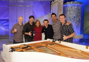 The Piano Guys with Katie Couric | Photo courtesy of The Piano Guys