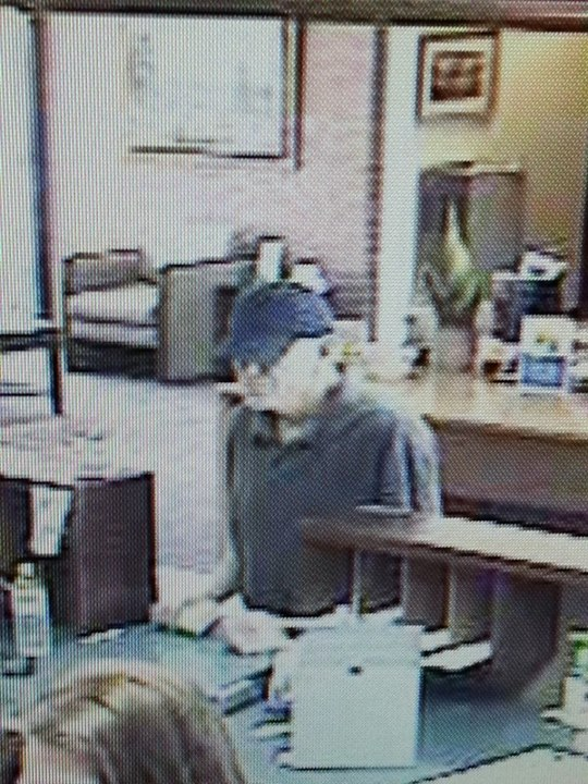 Photo of the individual suspected of robbing the State Bank of Southern Utah, St. George, Utah, March 28, 2013 | Photo courtesy of the  St. George Police Department