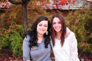Jamie Brannan (left) and Stephanie Sanderson, St. George, Utah, Sept. 13, 2012   Photo courtesy of Rebekah White