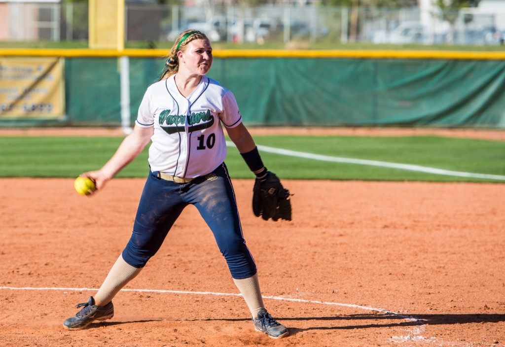 SC pitcher Brytni Gurney, Pine View at Snow Canyon, St. George, Utah, Mar. 19, 2013 | Photo by Dave Amodt, St. George News
