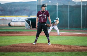 PV freshman pitcher Dakota Donovan in this file photo, St. George, Utah, Mar. 19, 2013 | Photo by Dave Amodt, St. George News