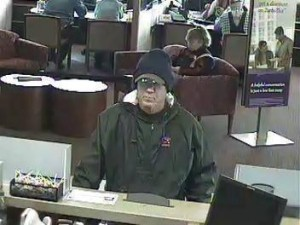 Surveillance photo of the suspect involved in multiple bank robberies in Utah and Idaho, March 6, 2013 | Photo courtesy of the Federal Bureau of Investigation