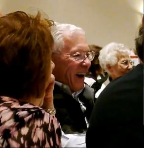 Laughing away at John's jokes